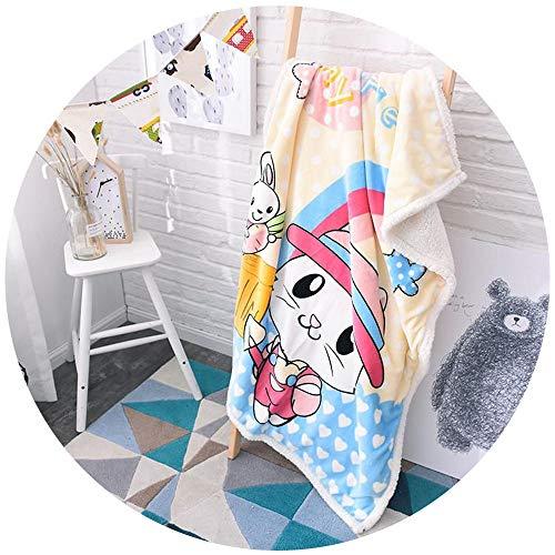 XC Couverture De Noël/comme L'agneau Couverture Enfants Double Couche Blanket Cartoon Monocouche Corail PU Blanket 100 * 140CM (Couleur : B, Taille : 100 * 140cm Imitation Cashmere)