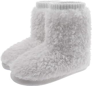 MIXIN Chaussons bottines confortables en mousse à mémoire de forme pour femme