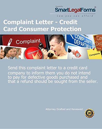 Complaint Letter - Credit Card Consumer Protection...