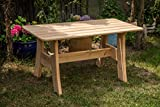 Larisa Stabil Gartentisch; unbehandeltem Erle Holz. 6 Bretter
