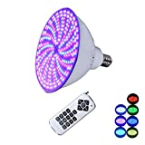 AstraDepot CE ROHS FCC Life-Bulb 12V 45W Color Changing LED Pool Light Bulb 12V RGB LED Swimming Pool Light Bulb Replace for Pentair Hayward Light Fixture Remote Control Switch Control