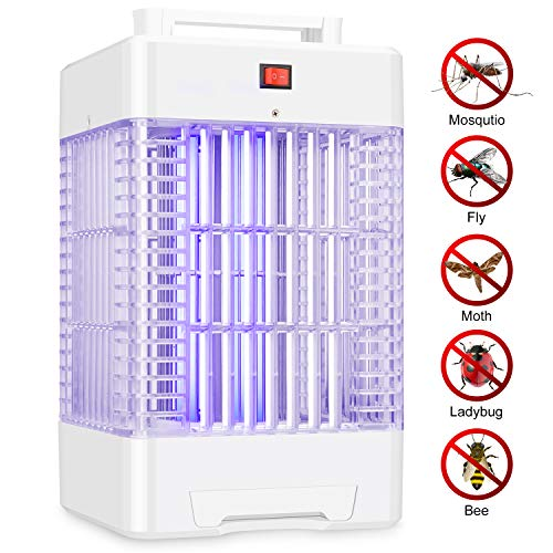 Electric Bug Zapper Indoor Outdoor Nontoxic Powerful Fly Trap Insect Killer Lamp with 2 UV Light Bulbs Cover Up to 1 Acre