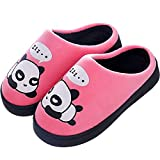 Zapatillas de Estar por Casa para Niñas Niños Otoño Invierno Zapatillas Mujer Hombres Interior, Rosa, 37/38 EU (38/39 CN)