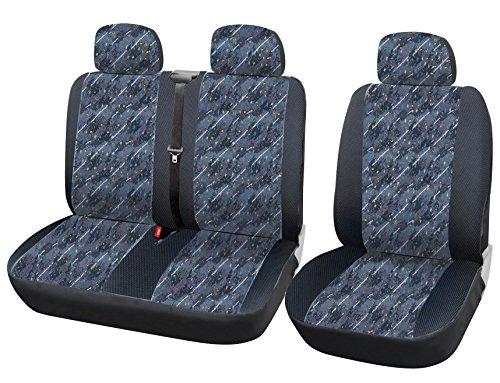 WOLTU AS7332 Auto Sitzbezüge universal Größe, 1+2 Sitzbezug Schonbezüge aus Polyester schwarz bunt