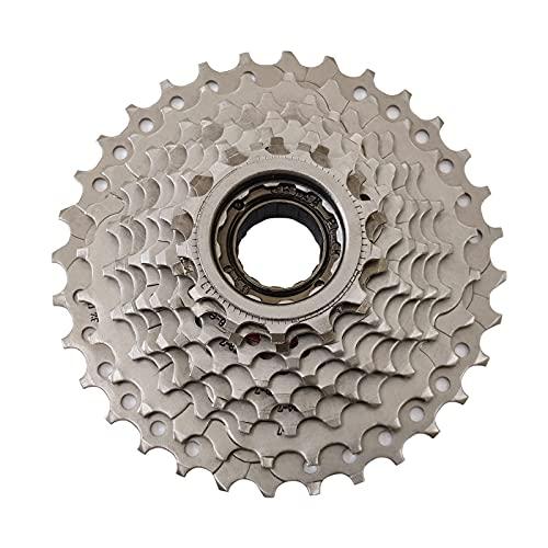 Hyuhome Casete de Bicicleta EléCtrica de 9 Velocidades, Rueda Libre de Bicicleta EléCtrica de MontañA Compatible 13-32t, PiñóN de Volante Anti-óXido Resistente Al Desgaste Apto para Shimano Bicicleta