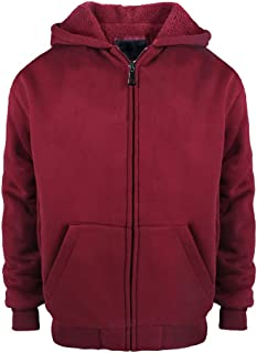 Leehanton Boys Hoodie Full Zip Sherpa Lined Fleece Warm Youth Big Novelty Sweatshirts