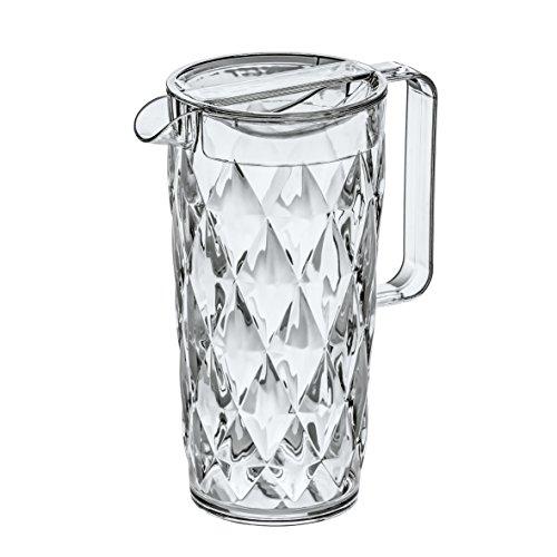 Koziol Crystal - Jarra de plástico con Tapa