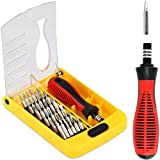 YIBIDINAY 37 in 1 Precision Screwdriver Set with Slotted, Phillips, Torx& More Bits, Non-Slip Magnetic Electronics Tool Kit for Repair iPhone, Android, Computer, Laptop, Watch, Glasses, PC etc