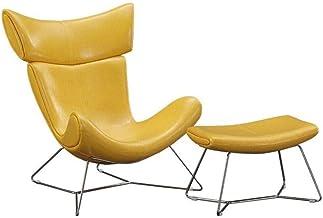 Lazy Sofa Bed Floor Chair Sofa Sofa High-Grade Leather Recliner Armchair Ottoman Foot Stool for Living Room Bedroom Club O...