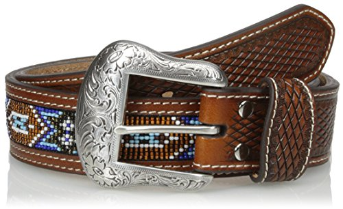Nocona Belt Co. Men's Multi Tribal Bead, Tan, 34