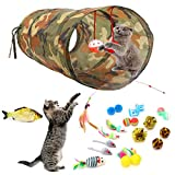 Homie Life 22 Pcs Cat Toys Kitten Toys Assortments, Cat Tunnel,Cat Feather Teaser Toys