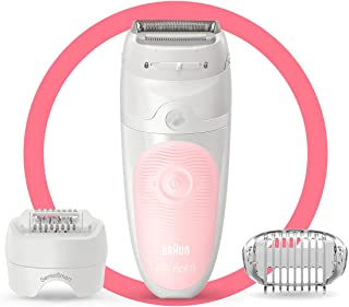 Braun Epilator for Women, Silk-épil 5 for Hair Removal, Wet & Dry, Shaver & Trimmer, Cordless, Rechargeable, SES 5-620 Whi...