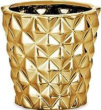 Cachepot Em Cerâmica Mart Dourado
