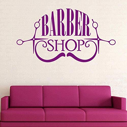 Wandaufkleber PVC Man Barber Shop Aufkleber Rasierer Vinyl Art Decor Windows 32X58Cm