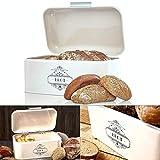 Omi's Beste© Panera de metal I Caja de pan de alta calidad 30,5 x 18,5 x 14,8...