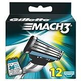 Gillette - Ancienne version - Mach3 - Lames de rasoir - 12 recharges