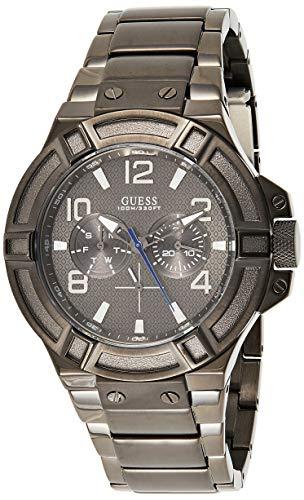 Guess Reloj analogico para Hombre de Cuarzo con Correa en Acero Inoxidable W0218G1
