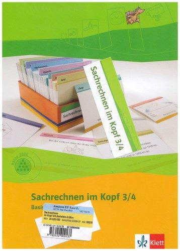 Sachrechnen im Kopf 3-4: Kartei Klasse 3/4 (Programm Mathe 2000+)