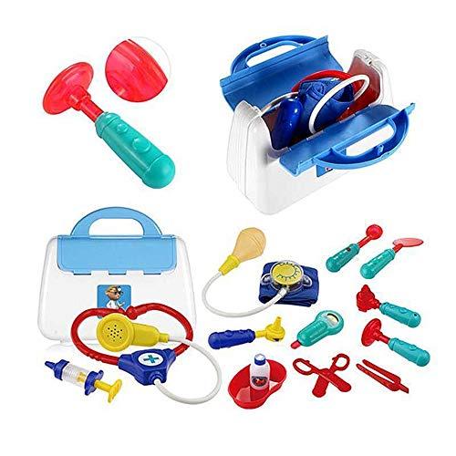 Vobajf Los médicos Kit para niños Infantiles Doctor Kit for niños Médico Kits for niños, Área de Juego Dentista Enfermera Juguetes de simulación Doctor médico Playsets (Color : Azul, Size : One Size)