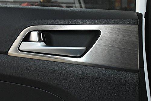 Decoración con revestimiento para manillar de la puerta del coche, tapa de...