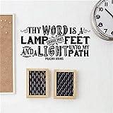 yaofale Calcomanías Tus Palabras Son los murales de Las lámparas en mis pies
