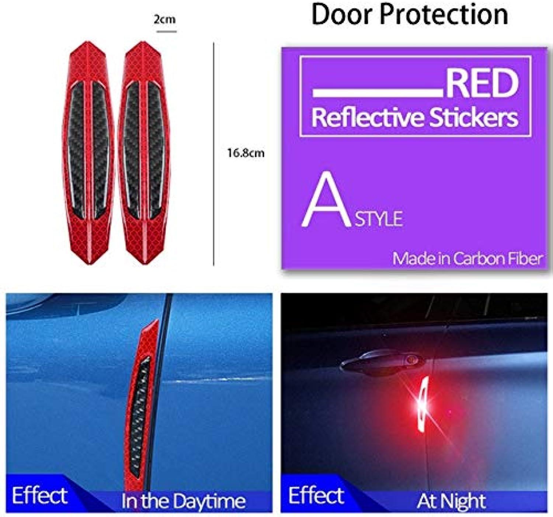 For Kia Rio ceed sportage 2017 cerato Citroen c4 Suzuki Swift Grand Vitara 1Set Auto Car Door Wheel Eyebrow 3D Stickers  (color Name  Door Red Black)