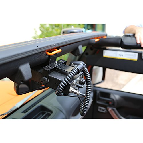 Rugged Ridge 11503.95 Radio Mounting Bracket, CB; 07-18 Jeep Wrangler JK
