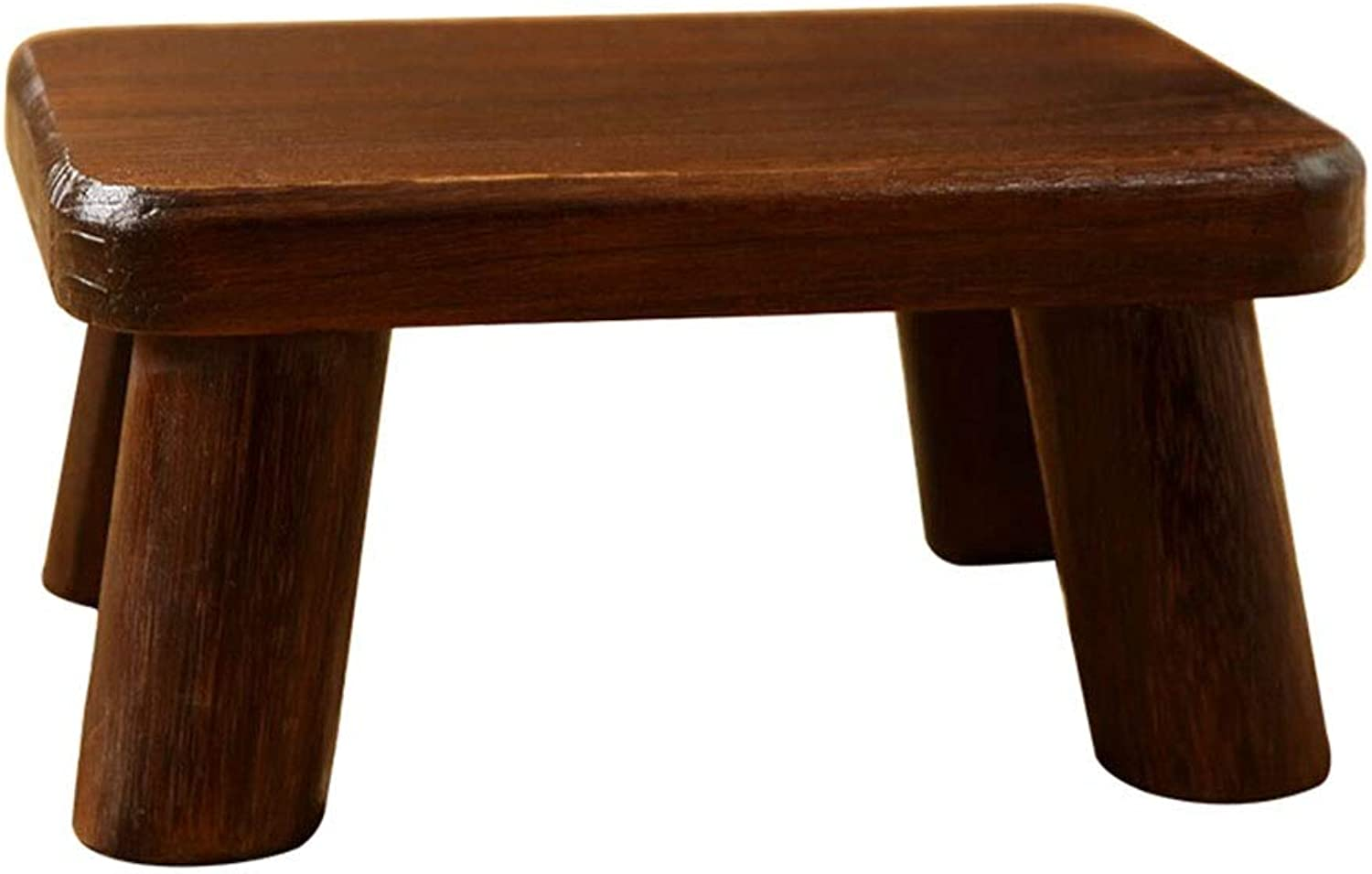 Small Stool-Retro shoes Bench Stool Multi-Function Stool Wood Small Bench Home Coffee Table Stool FENPING (color   Dark Brown, Size   36  25.6  18cm)
