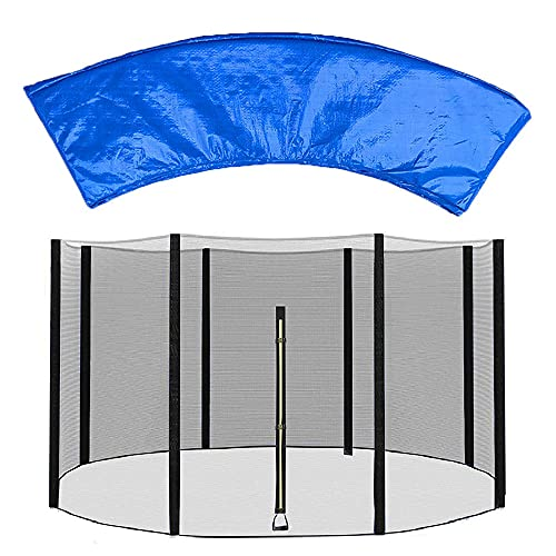 XIUWOUG 6ft 8ft 10ft 12ft 14ft Trampoline net Replacement and Trampoline Surround Pad,Trampoline Accessory Easy to Fit Fits for Most Outdoor Garden Trampoline,Circular Trampoline,6ft(6 Poles)