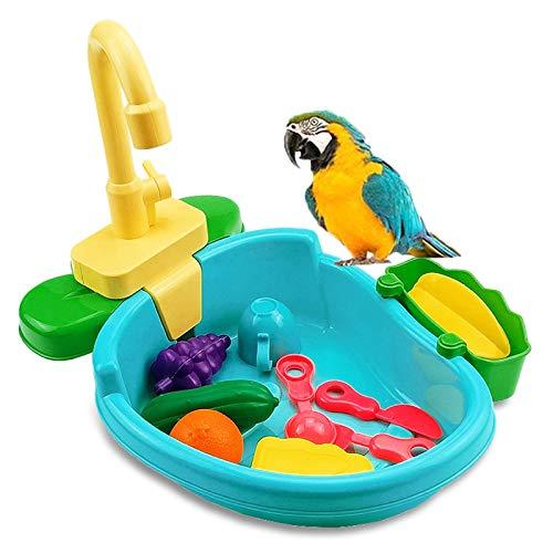 Bañera loros bañera pájaro Accesorios de ducha de jaula de pájaros Accesorios...