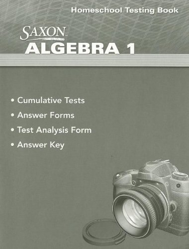 Saxon Algebra 1 4th Edition Testing Book