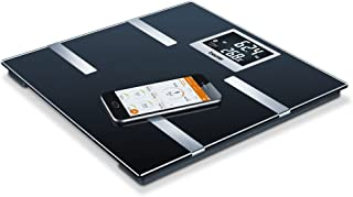 Beurer BF 700 - Báscula de baño diagnóstica Bluetooth, compatible con App en español Health Manager, pantalla LCD grandes dígitos (2.3 cm), 2 electrodos, color negro