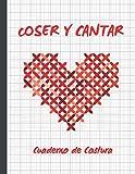 COSER Y CANTAR: CUADERNO DE COSTURA | PAPEL PAUTADO PARA TEJER | PLANTILLAS PARA REGISTRAR TUS DISEÑOS O PROYECTOS DE PUNTO, TRICOTAR, CROCHÉ... | ... DE RATIO 4:5 ( 40 PUNTADAS = 50 COLUMNAS)