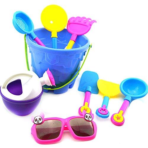 JUNGEN Jouet Sable Plage Jeux Plage Jardin Bac Plastique Cadeau Coloré pour Bébé Enfant Seau Jouets Ensemble De 9