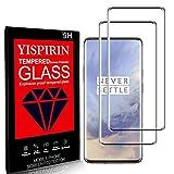 YISPIRIN Pellicola Protettiva schermo per OnePlus 7 Pro/7T Pro, Copertura 3D Completa, [2 Pezzi] [9H Durezza] [Alta Trasparenza] [Anti-Impronta Digitale] Vetro temperato per OnePlus 7 Pro/7T Pro