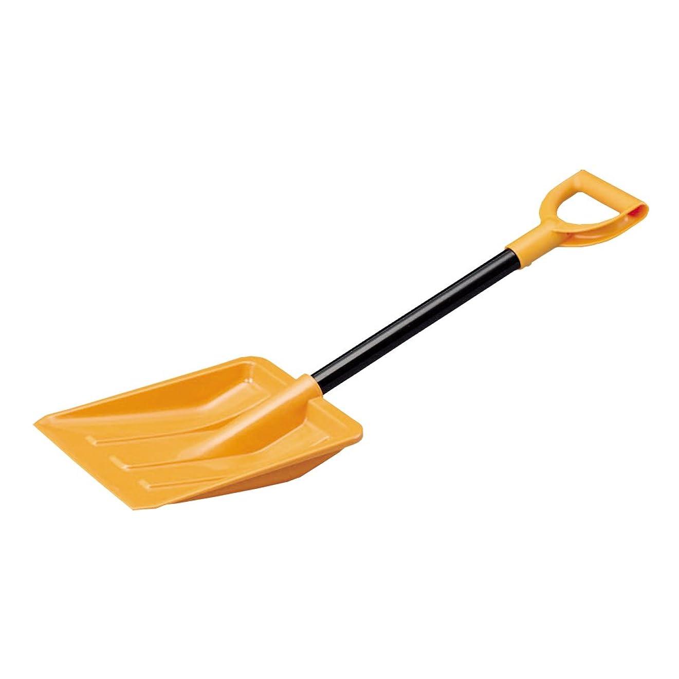 建設嵐の共和党アイリスオーヤマ 雪かき スコップ 車載スコップ ポリカ オレンジ