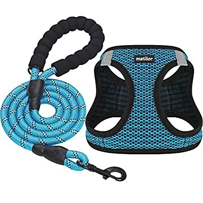 matilor Dog Harness Step-in Breathable Puppy Cat Dog Vest Harnesses for Small Medium Dogs from matilor