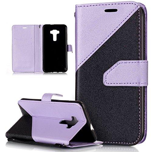 ASUS Zenfone 2Funda, Asus Zenfone 3Cover, ikasus Hit Color colisión piel sintética plegable tipo cartera, funda de piel tipo cartera con función atril para tarjetas de crédito ID soportes carcasa pa