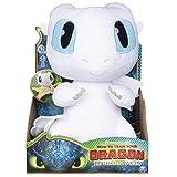 Dragons Squeeze & Growl LightFury - Juguetes de Peluche (Dragón de...