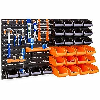 Best Choice Products 44-Piece Wall Mounted Garage Storage Organizer Rack