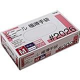 川西工業 ビニール使いきり手袋 粉なし 100枚入 #2026 クリア M