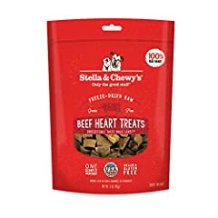 One simple ingredient: 100% pure freeze-dried raw beef hearts. Made in the USA A natural, healthy, high-value treat that dogs cannot resist Gluten-free, grain-free and poultry-free. Perfect for pets with food sensitivities and limited ingredient diet...