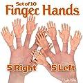 Accoutrements Set of Ten Finger Hands Finger Puppets