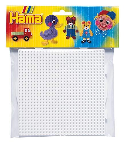 Hama - Set de Plantillas Grandes de Forma Redonda y Cuadrada para Cuentas de Colores