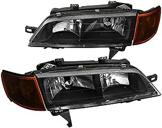 Spec-D Tuning 2LCLH-ACD94JM-RS Honda Accord Dx Lx Ex Headlights w/Amber Corner Lights Black