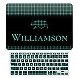 Carcasa rígida para MacBook Air 13 A1466, A1369, carcasa rígida y teclado para Apple Mac Air 13, diseño de oso rústico a cuadros, color verde y negro