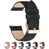 Fullmosa 14mm,16mm,18mm, 20mm, 22mm, 24mm Bracelet de Montre en Cuir véritable, Cross Montre...