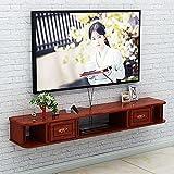 Mueble de TV Mesa Flotante,Consola de TV para Sala de Estar, Unidad de Entretenimiento de Montaje en Pared de Oficina de Dormitorio con Almacenaje/B / 150cm