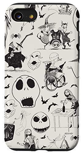 iPhone SE (2020) / 7 / 8 Tim Burton's The Nightmare Before Christmas Ink Print Case