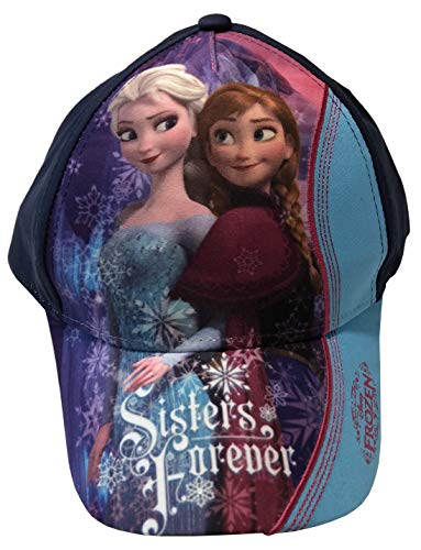 Disney Frozen Die Eiskönigin Cap Basecap Kappe Mütze Kinder Mädchen Cappy (54, Blau)